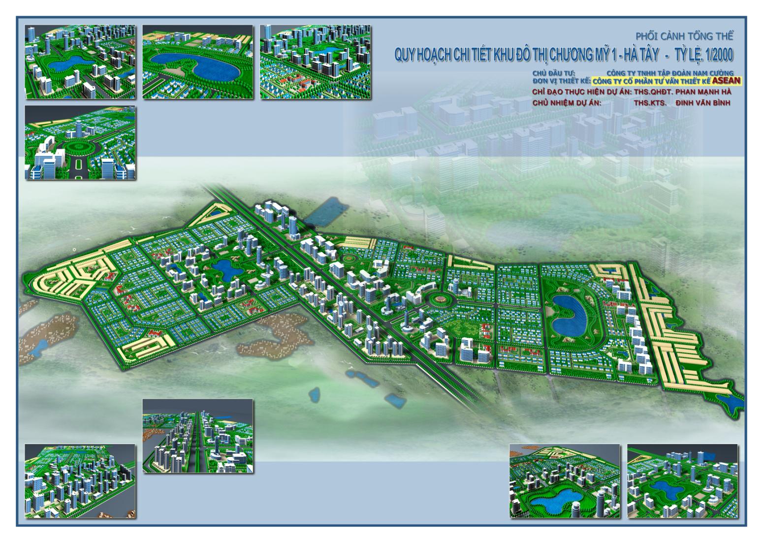 Quy hoạch chi tiết khu đô thị Chương Mỹ 1 - Hà Tây TL 1/2000