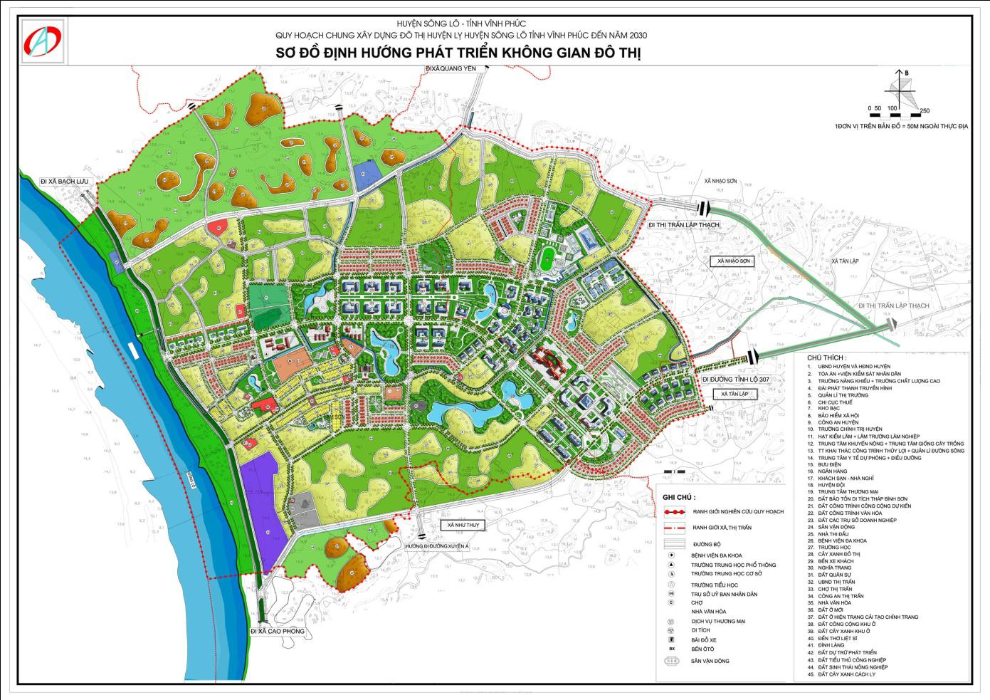 Quy hoạch chung xây dựng đô thị huyện lỵ sông lô - tỉnh vĩnh phúc đến năm 2030