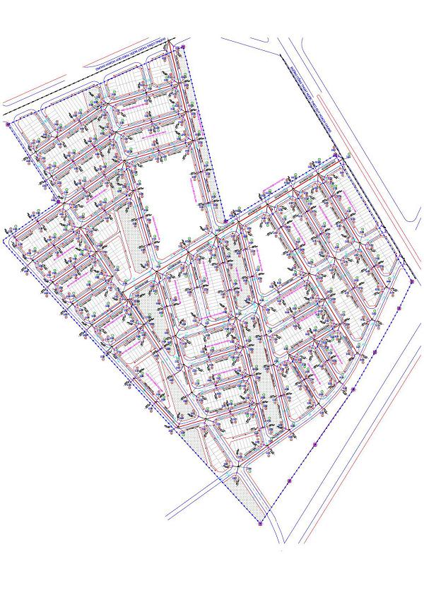 Lập dự án; thiết kế BVTC dự án xây dựng HTKT khu đất dịch vụ  thôn hòa bình – yên nghĩa  - hà đông