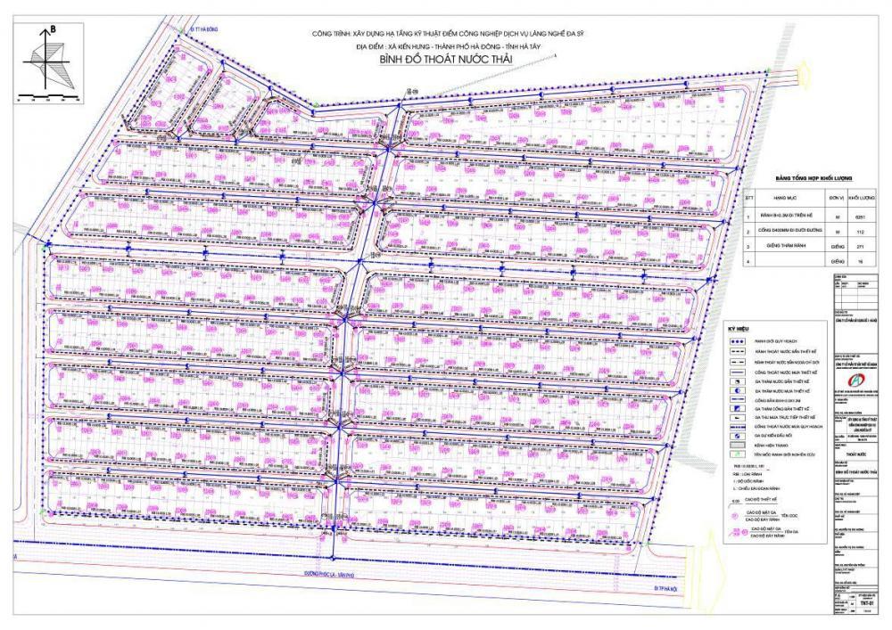 Lập dự án, thiết kế bvtc công hạ tầng kỹ thuật  điểm công nghiệp làng nghề đa sỹ - Hà Đông