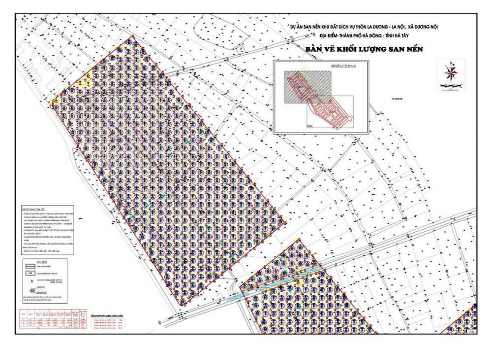 Lập dự án; thiết kế BVTC dự án xây dựng HTKT KHU ĐấT DịCH Vụ La Dương   xã Dương nội - Hà Đông - hà nội