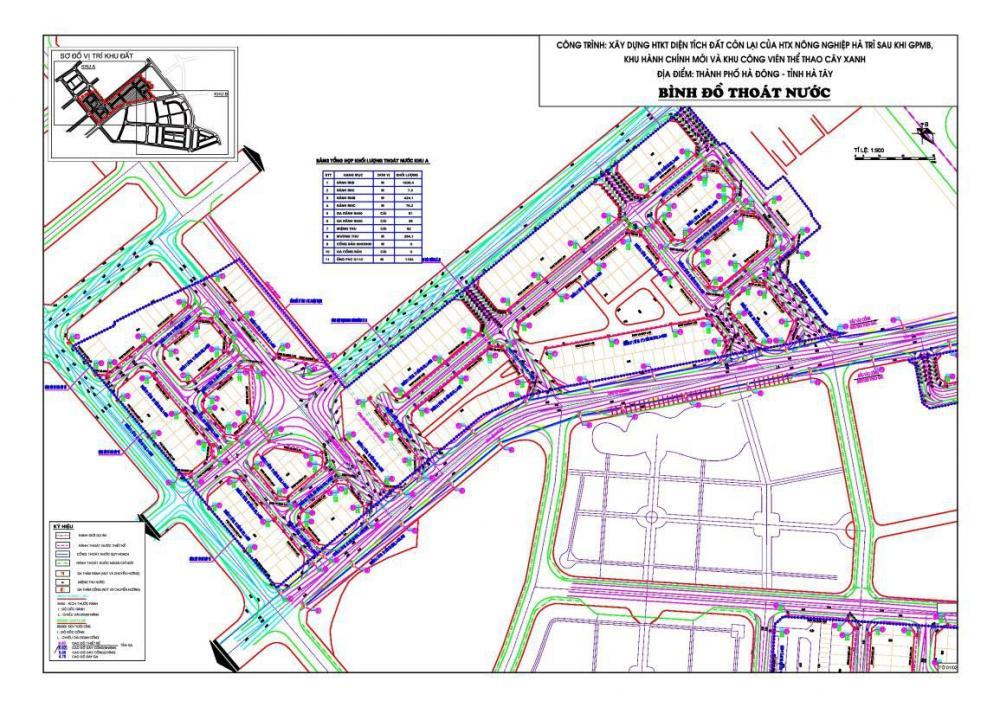 Dự án xây dựng hạ tầng kỹ thuật khu hành chính mới và khu công viên thể thao cây xanh