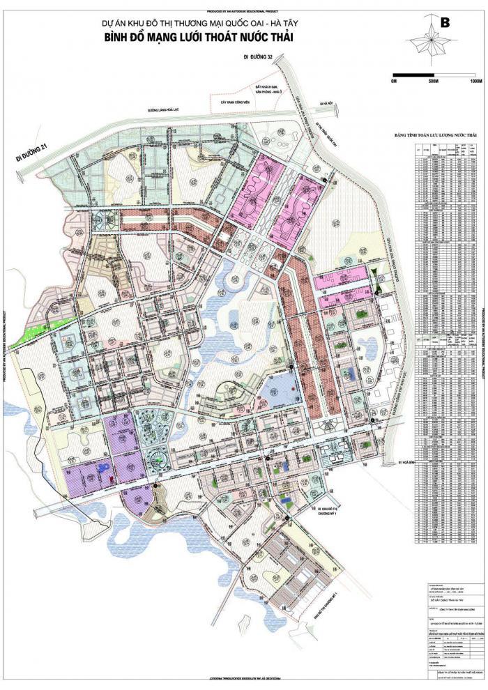 Lập dự án xây dựng hạ tầng kỹ thuật khu đô thị thương mại Quốc Oai - Hà Tây